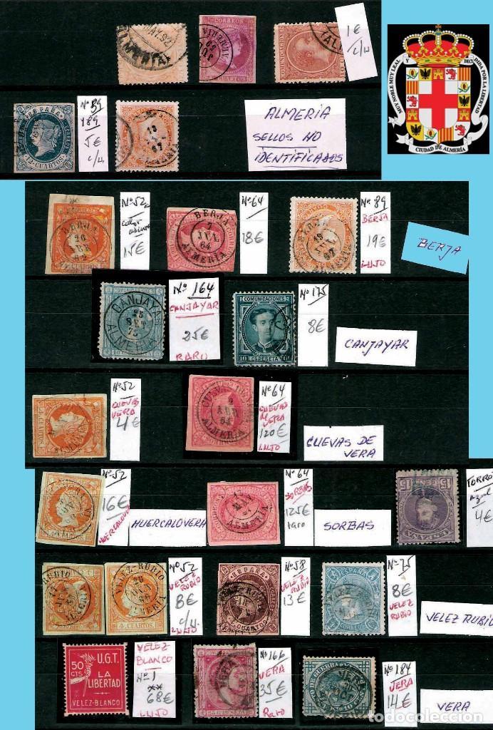 Sellos: ALMERIA Y PROV.- HISTORIA POSTAL, MATASELLOS Y LOCALES. P.V. 2.190 €. VER 7 PLANCHAS y CONDICICIONES - Foto 2 - 31592009