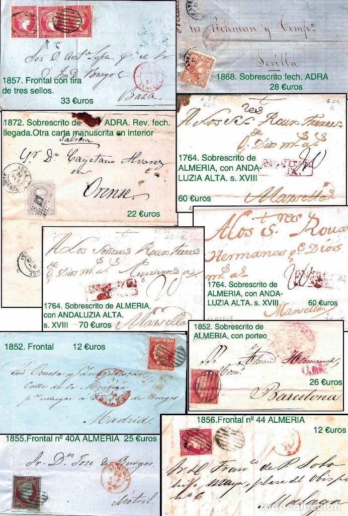 Sellos: ALMERIA Y PROV.- HISTORIA POSTAL, MATASELLOS Y LOCALES. P.V. 2.190 €. VER 7 PLANCHAS y CONDICICIONES - Foto 3 - 31592009