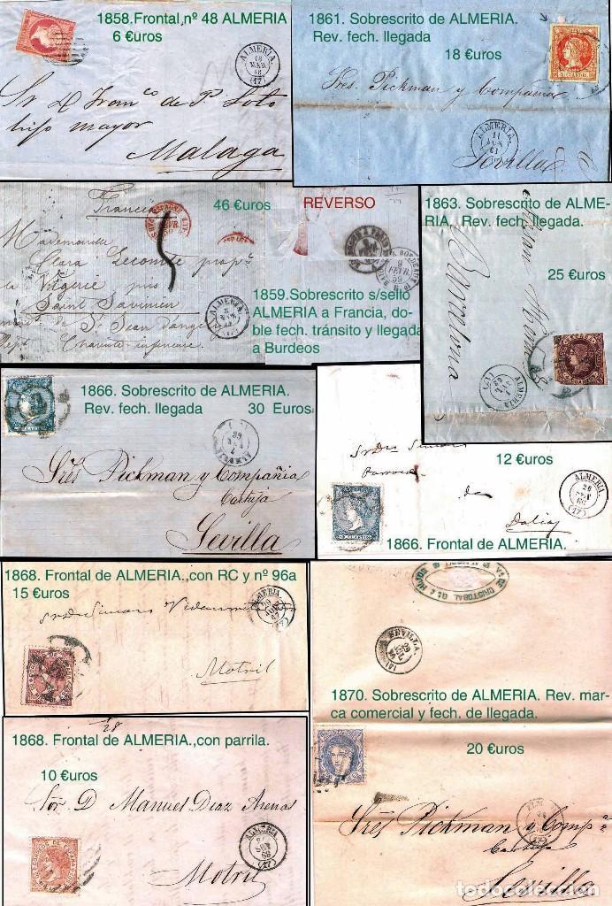 Sellos: ALMERIA Y PROV.- HISTORIA POSTAL, MATASELLOS Y LOCALES. P.V. 2.190 €. VER 7 PLANCHAS y CONDICICIONES - Foto 4 - 31592009