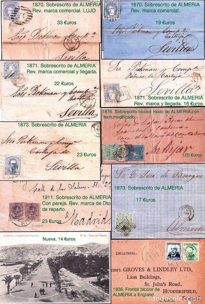 Sellos: ALMERIA Y PROV.- HISTORIA POSTAL, MATASELLOS Y LOCALES. P.V. 2.190 €. VER 7 PLANCHAS y CONDICICIONES - Foto 5 - 31592009