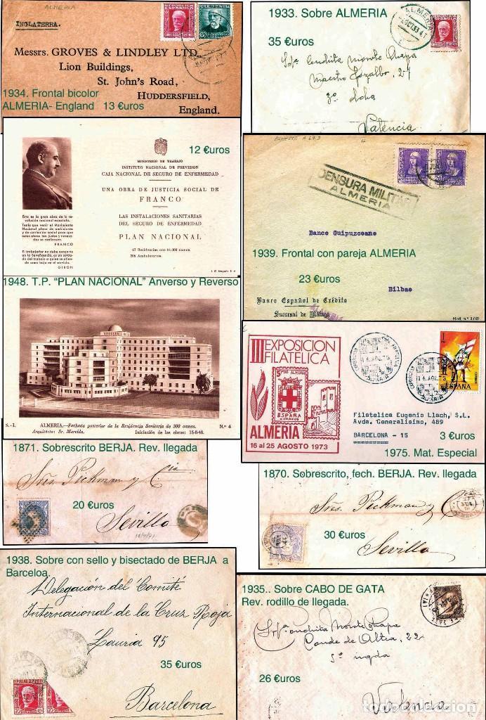 Sellos: ALMERIA Y PROV.- HISTORIA POSTAL, MATASELLOS Y LOCALES. P.V. 2.190 €. VER 7 PLANCHAS y CONDICICIONES - Foto 6 - 31592009
