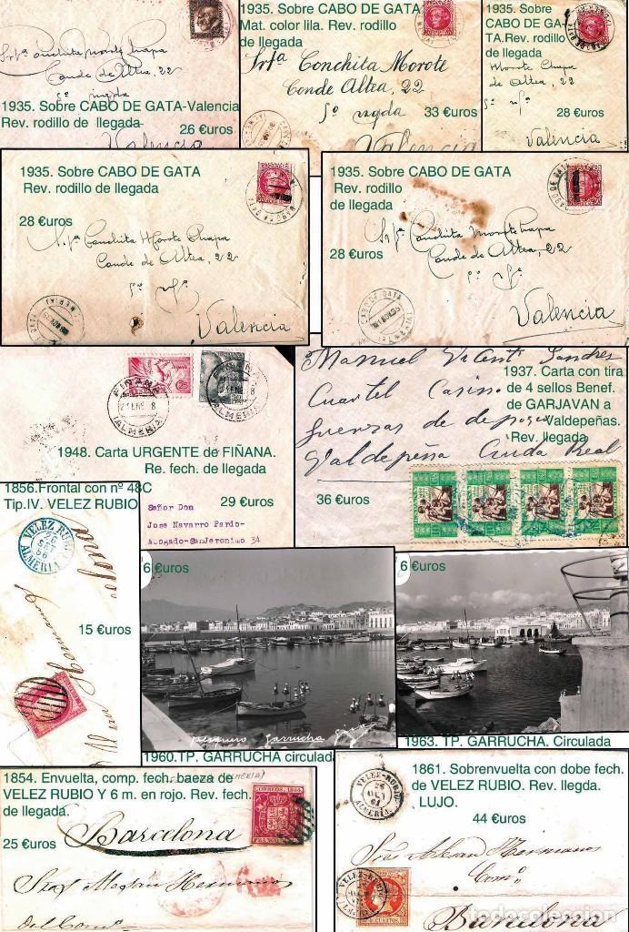 Sellos: ALMERIA Y PROV.- HISTORIA POSTAL, MATASELLOS Y LOCALES. P.V. 2.190 €. VER 7 PLANCHAS y CONDICICIONES - Foto 7 - 31592009