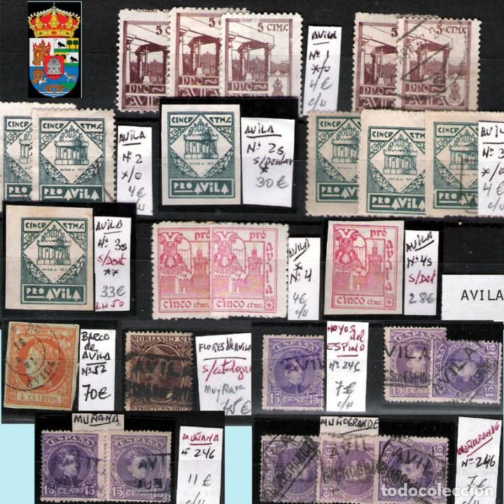 Sellos: AVILA Y PROV.-HISTORIA POSTAL, MATASELLOS, E.LOCALES Y T.P.-P.V.1.956 €. VER 6 PLANCHAS-CONDICIONES - Foto 2 - 31605102