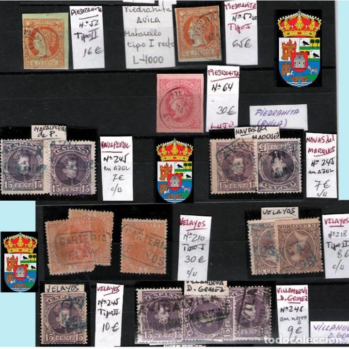 Sellos: AVILA Y PROV.-HISTORIA POSTAL, MATASELLOS, E.LOCALES Y T.P.-P.V.1.956 €. VER 6 PLANCHAS-CONDICIONES - Foto 3 - 31605102