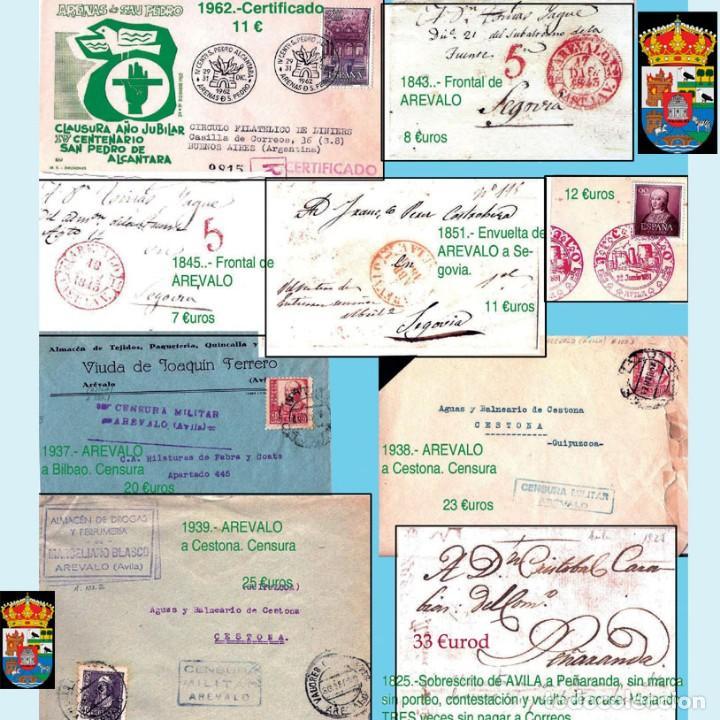 Sellos: AVILA Y PROV.-HISTORIA POSTAL, MATASELLOS, E.LOCALES Y T.P.-P.V.1.956 €. VER 6 PLANCHAS-CONDICIONES - Foto 4 - 31605102