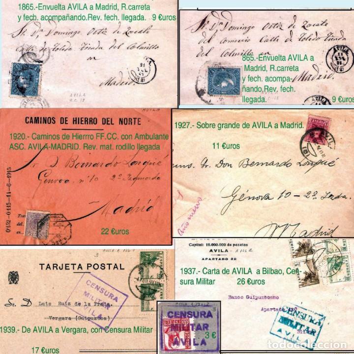 Sellos: AVILA Y PROV.-HISTORIA POSTAL, MATASELLOS, E.LOCALES Y T.P.-P.V.1.956 €. VER 6 PLANCHAS-CONDICIONES - Foto 5 - 31605102