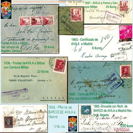 Sellos: AVILA Y PROV.-HISTORIA POSTAL, MATASELLOS, E.LOCALES Y T.P.-P.V.1.956 €. VER 6 PLANCHAS-CONDICIONES - Foto 6 - 31605102