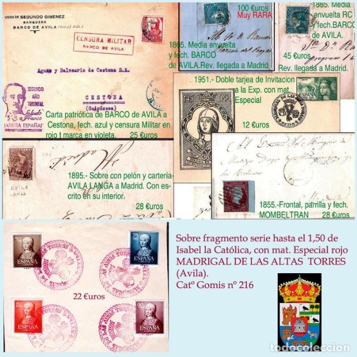 Sellos: AVILA Y PROV.-HISTORIA POSTAL, MATASELLOS, E.LOCALES Y T.P.-P.V.1.956 €. VER 6 PLANCHAS-CONDICIONES - Foto 7 - 31605102