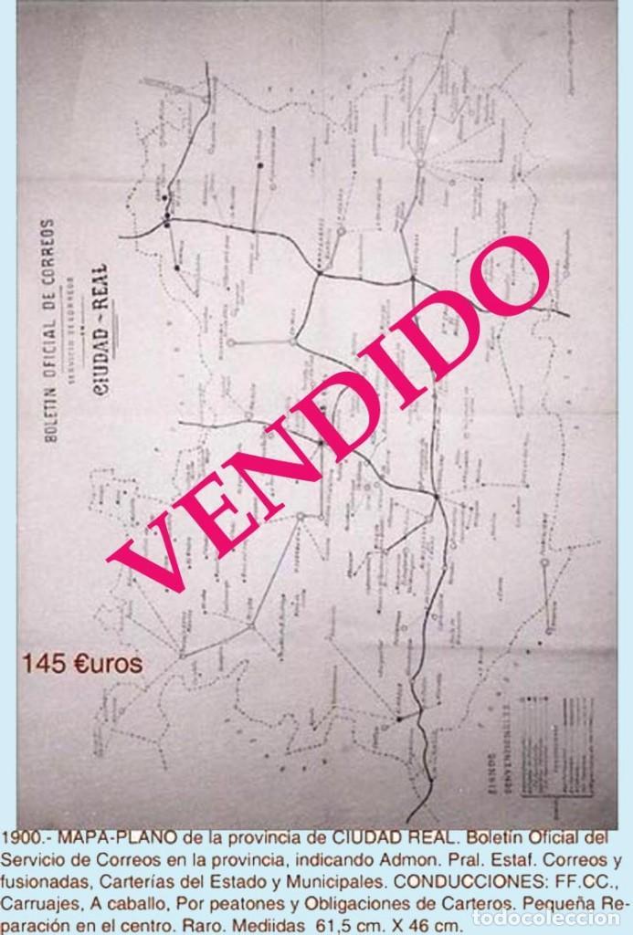 Sellos: CIUDAD REAL Y PROV..- HISTORIA POSTAL, CARTAS Y MAPA. P.V. 1.458 €. VER 7 PLANCHAS Y CONDICIONES. - Foto 7 - 31605591