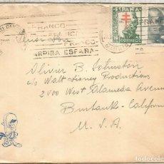 Sellos: MADRID A USA CC 1946 CON SELLO PRO TUBERCULOSIS ENFERMEDAD MEDICINA. Lote 262059080