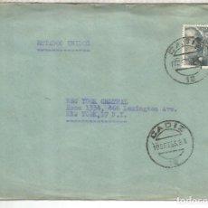 Sellos: CADIZ A USA 1953 FRANCO DE PERFIL. Lote 262060635