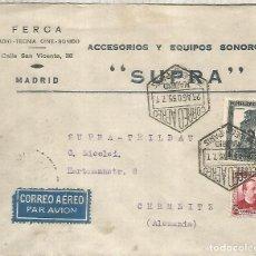 Sellos: MADRID A CHEMNITZ CC CON MAT CORREOI AEREO MADRID BURDEOS PARIS 1935 CON TRANSITO Y LLEGADAS. Lote 262061860