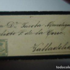 Sellos: VALLADOLID - SOBRE DE PÉSAME - SIGLO XIX. Lote 263218260