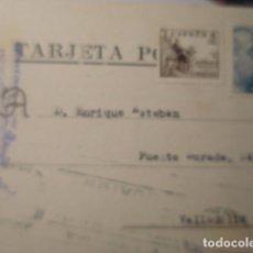 Sellos: TARJETA POSTAL COMERCIAL - MADRID - FABRICA PLATERIA G-GARCIA A VALLADOLID 1948 HISTORIA POSTAL. Lote 263218300