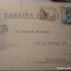 Sellos: TARJETA POSTAL COMERCIAL - MADRID - FABRICA PLATERIA G-GARCIA A VALLADOLID 1948 HISTORIA POSTAL. Lote 263218310