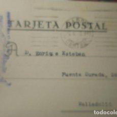 Sellos: TARJETA POSTAL COMERCIAL - MADRID G-GARCIA PLATERIA A VALLADOLID 1948 HISTORIA POSTAL. Lote 263218355