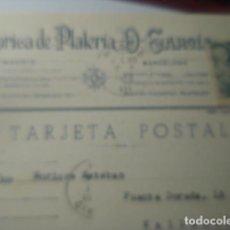 Sellos: TARJETA POSTAL COMERCIAL - D-GARCIA MADRID FABRICA PLATERIA A VALLADOLID 1952 HISTORIA POSTAL. Lote 263218425