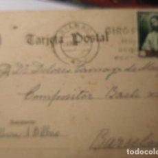Sellos: TARJETA POSTAL - BILBAO A BARCELONA 1961 HISTORIA POSTAL. Lote 263218575