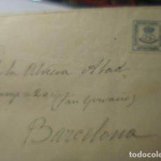 Sellos: CARTA - A BARCELONA HISTORIA POSTAL. Lote 263218595