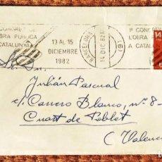 Sellos: 1 CONGRES L'OBRA PUBLICA A CATALUNYA 1982. Lote 263240535