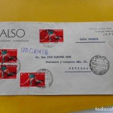 Timbres: ANTIGUO SOBRE.ALSO.ACTIVIDADES COMERCIALES.JEREZ DE LA FRONTERA.1960. Lote 264309336