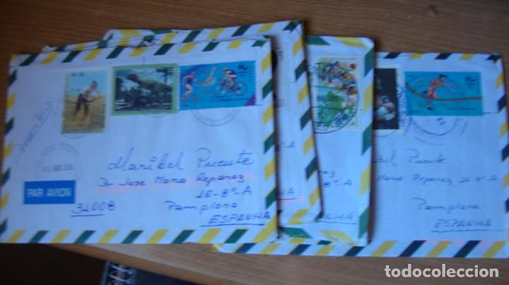 LOTE 17 SOBRES CIRCULADOS BRASIL 4 VENEZUELA VER DESCRIPCION Y FOTOS (Sellos - Historia Postal - Sello Español - Sobres Circulados)