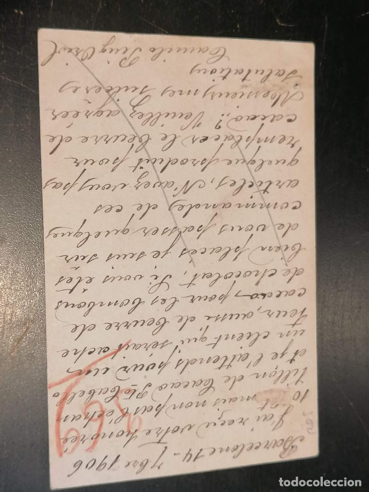 Sellos: España Entero Postal Edifil 40 14 de Septiembre año 1906 Barcelona - Foto 2 - 271366448