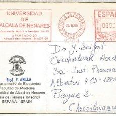 Timbres: ALCALA HENARES MADRID FRANQUEO MECANICO METER UNIVERSIDAD ALCALA 1985. Lote 274189378