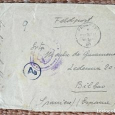 Sellos: DIVISION AZUL - SOBRE CIRCULADO 1943. Lote 278673813