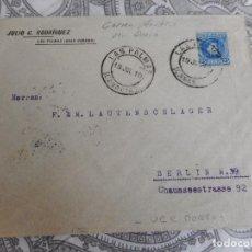 Sellos: SOBRE.JULIO C.RODRIGUEZ.LAS PALMAS GRAN CANARIA-SOUTHAMPTON.SHIP LETTER.CORREO MARITIMO 1910. Lote 279454613