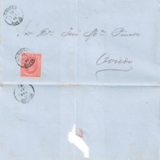 Sellos: ENVUELTA DE GIJÓN A OVIEDO 10 FEBRERO DE 1864. Lote 279476298