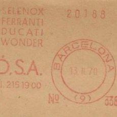 Sellos: 1970. BARCELONA. FRANQUEO MECÁNICO. FRAGMENTO. M. GABARRÓ S.A. MÁQUINA 338.. Lote 280111003