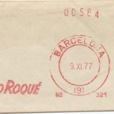 Sellos: 1977. BARCELONA. FRANQUEO MECÁNICO. FRAGMENTO. FERNANDO ROQUÉ. MÁQUINA 321. TRANSPORTES.. Lote 280111198
