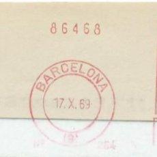 Sellos: 1969. BARCELONA. FRANQUEO MECÁNICO. FRAGMENTO. MÁQUINA 264.. Lote 280111443