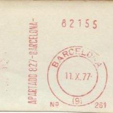 Sellos: 1977. BARCELONA. FRANQUEO MECÁNICO. FRAGMENTO. MÁQUINA 261.. Lote 280111563