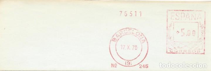 1978. BARCELONA. FRANQUEO MECÁNICO. FRAGMENTO. MÁQUINA 245. (Sellos - Historia Postal - Sello Español - Sobres Circulados)