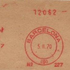 Sellos: 1970. BARCELONA. FRANQUEO MECÁNICO. FRAGMENTO. J. ISERN. MÁQUINA 227.. Lote 280112323