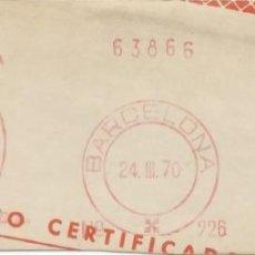 Sellos: 1970. BARCELONA. FRANQUEO MECÁNICO. FRAGMENTO. WASSERMANN. MÁQUINA 226.. Lote 280112508