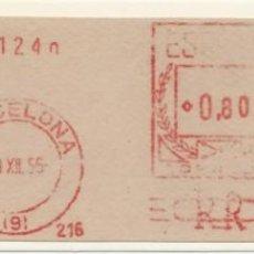 Sellos: 1956. BARCELONA. FRANQUEO MECÁNICO. FRAGMENTO. MÁQUINA 216.. Lote 280112888