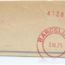 Sellos: 1971. BARCELONA. FRANQUEO MECÁNICO. FRAGMENTO. MÁQUINA 161.. Lote 280113183