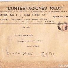 Timbres: SOBRE MADRID A TRUBIA (ASTURIAS) 1933 CON SELLO 678 - DERECHO PENAL MILITAR - VER DESCRIPCION. Lote 287759043