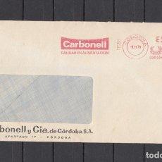 Sellos: FRANQUEO MECANICO 11158 CORDOBA, CARBONELL CALIDAD EN ALIMENTACION. Lote 287849088