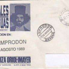 Sellos: SOBRE CONVENCIÓN DE POSTALES ANTIGUAS EN CAMPRODÓN (GIRONA) 1989 CON MATASELLOS. Lote 288955138