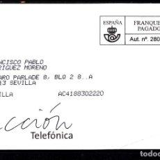 Sellos: FRANQUEO PAGADO AUT. Nº 280156, ACCION TELEFONICA. Lote 288955328