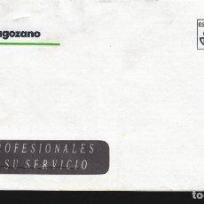 Sellos: FRANQUEO PAGADO AUT. Nº 500.009-01, BANCO ZARAGOZANO. Lote 288957358