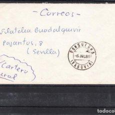 Sellos: SIN SELLO DE FRANQUEO Y FECHADOR CONSUEGRA (SEGOVIA). Lote 288962058
