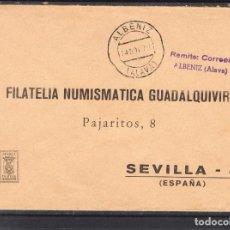 Sellos: SIN SELLO DE FRANQUEO Y FECHADOR ALBENIZ (ALAVA). Lote 288963053