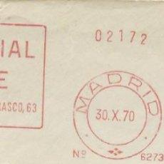 Sellos: 1970. MADRID. FRANQUEO MECÁNICO. FRAGMENTO. EDITORIAL OFICE. MÁQUINA 6273.. Lote 289536148
