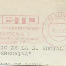 Sellos: 1979. MADRID. FRANQUEO MECÁNICO. FRAGMENTO. NIETO. MÁQUINA 6247.. Lote 289536348