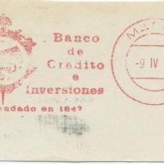 Sellos: 1974. MADRID. FRANQUEO MECÁNICO. FRAGMENTO. BANCO DE CRÉDITO E INVERSIONES. MÁQUINA 4333.. Lote 289537448